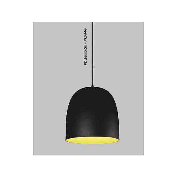 PENDENTE Usina Design BULLET sem DIFUSOR 16005/40 Quartos Sala Estar Cozinhas 1 E27 Ø400X410X1500
