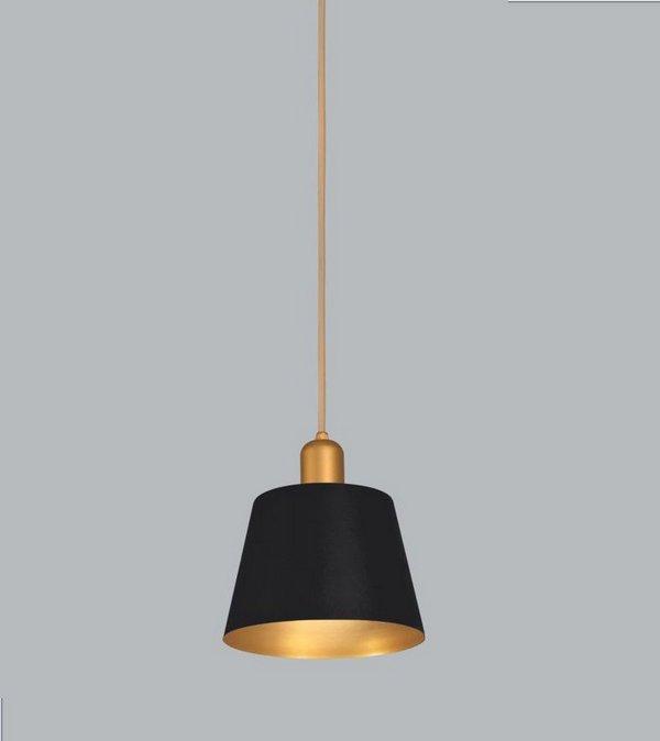 Pendente Usina Design Cambar Pequeno  Conico Vertical Metal Preto 20x19cm 1x E27 Bivolt 110v 220v16240-20 Balcões Mesas