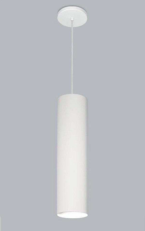 Pendente Usina Design Ducto GG Vertical Tubo Metal Branco 60x11cm 1x E27 Bivolt 110v 220v16256-60 Balcões Cozinhas
