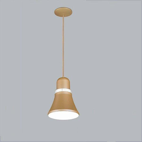 Pendente Usina Design Merengue medio Conico Metal Dourado 27x21cm 1x E27 Bivolt 110v 220v16030-20 Mesas Balcões