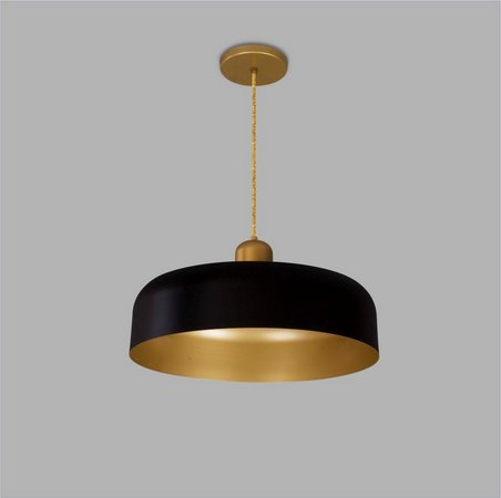 PENDENTE Usina Design PRISA sem DIFUSOR 16060/40 Quartos Sala Estar Cozinhas 1 E27 Ø400X110X1000
