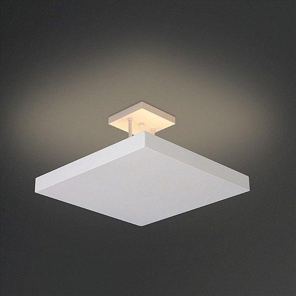 Pendente Usina Design Quadrado Acrílico Branco com Hastes 50x50 Home E-27 252/5E Quartos Salas