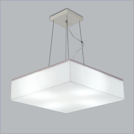 PENDENTE Usina Design QUADRADO ACRÍLICO POLAR 10101/55 Corredores Hall 6 E27 550x550x100
