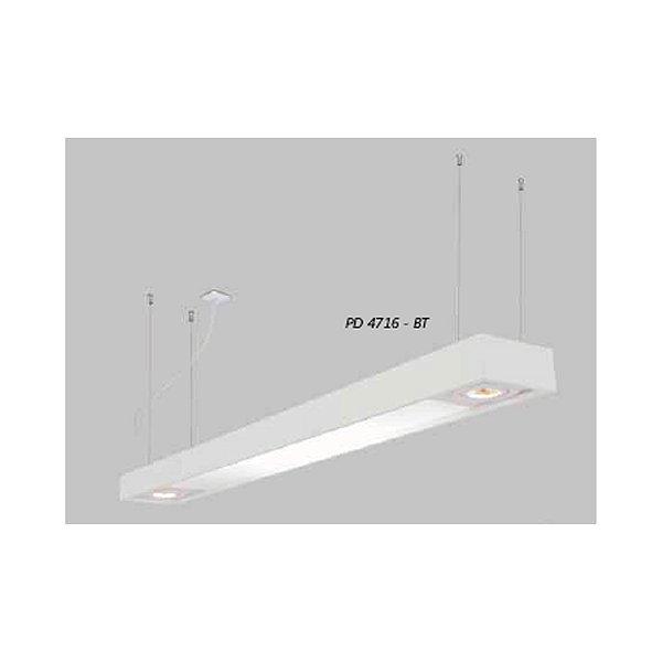 PENDENTE Usina Design Retangular TROPICAL SLIM CAÇO FIO RYON 4716/90F Sala Estar Cozinhas Quartos DC 4T8 LED 60CM 02 GU10 MR16 150X900X85