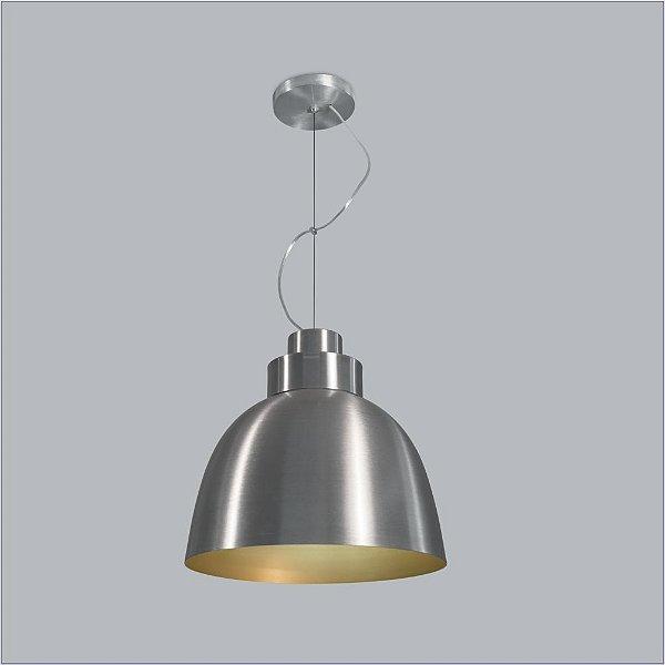 Pendente Usina Design Tron Vertical Conico Metal Cromado 37x40cm 1x E27 Bivolt 110v 220v16045-40 Balcões Mesas