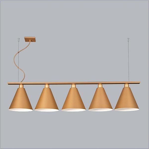 PENDENTE Usina Design VARANDA TRILHO 5 CH 16250/100 Quartos Sala Estar Cozinhas 5 E27 Ø135X1000X190x1000