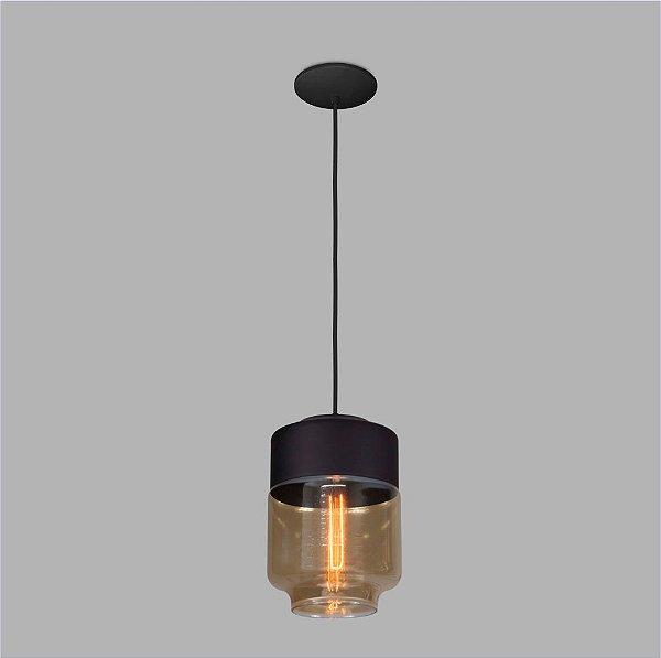PENDENTE Usina Design VETRO 17000/1 Sala Quarto Cozinha 1 E27 Ø170x250x1000