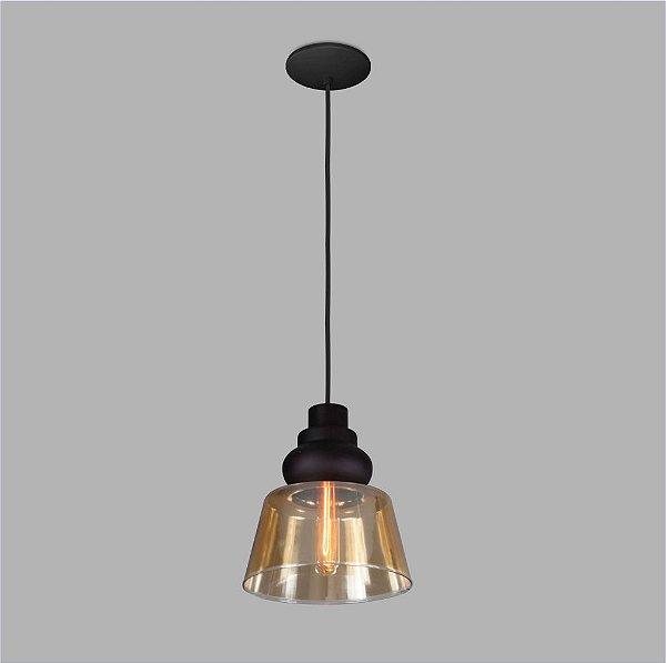 PENDENTE Usina Design VETRO 17002/1 Sala Quarto Cozinha 1 E27 Ø210x220x1000