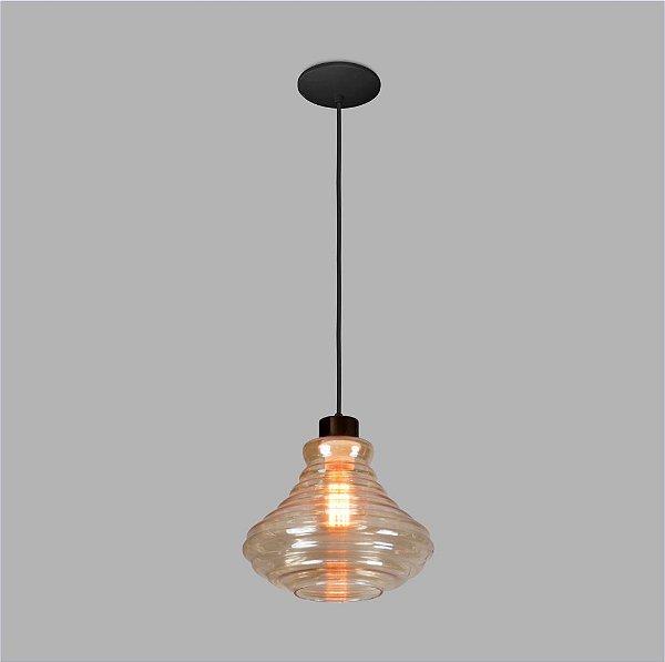 PENDENTE Usina Design VETRO 17004/1 Sala Quarto Cozinha 1 E27 Ø240x200x1000
