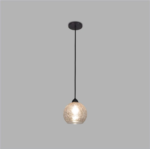 PENDENTE Usina Design VETRO 17006/1 Sala Quarto Cozinha 1 E27 Ø200x235x1000