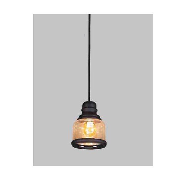 PENDENTE Usina Design VETRO 17008/1 Sala Quarto Cozinha 1 E27 Ø150x200x1000