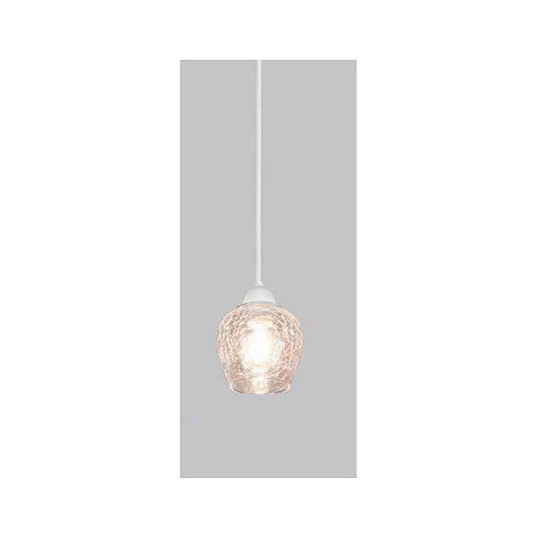 PENDENTE Usina Design VETRO 17011/1 Sala Quarto Cozinha 1 E27 Ø130x190x1000