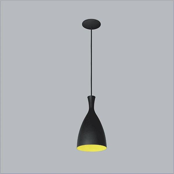 Pendente Usina Design Vita Vertical Conico Metal Preto 16,5x10cm 1x E27 Bivolt 110v 220v16020-17 Cozinhas Balcões