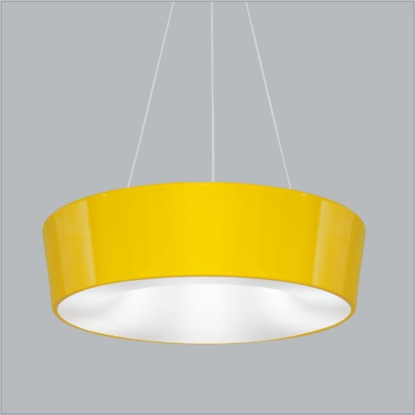 Pendente Usina Design Vulcano medio Redondo Metal Amarelo 15x45cm 4x E27 Bivolt 110v 220v16216-45 Mesas Escadas