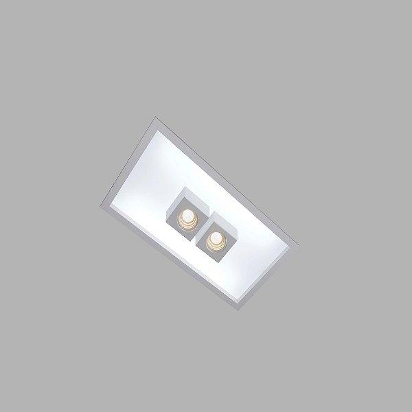 Plafon EMBUTIDO Usina Design BOX 325x650x100mm 30325/65F Teto Gesso Sanca 4xT8 60CM 2GU10 MR16 295x620x100