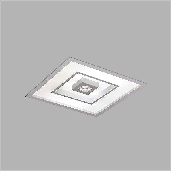 Plafon EMBUTIDO Usina Design FOCUS 475x475x100mm 4552/50 Sala Estar Cozinhas Quartos 8 E27 01 GU10 MR16 500x500x100