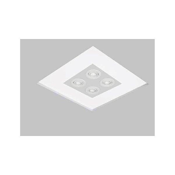 Plafon EMBUTIDO Usina Design NO FRAME 470 x 470 mm 30083/54 Teto Gesso Sanca 4 E27 4AR70 480 x 480 x 90