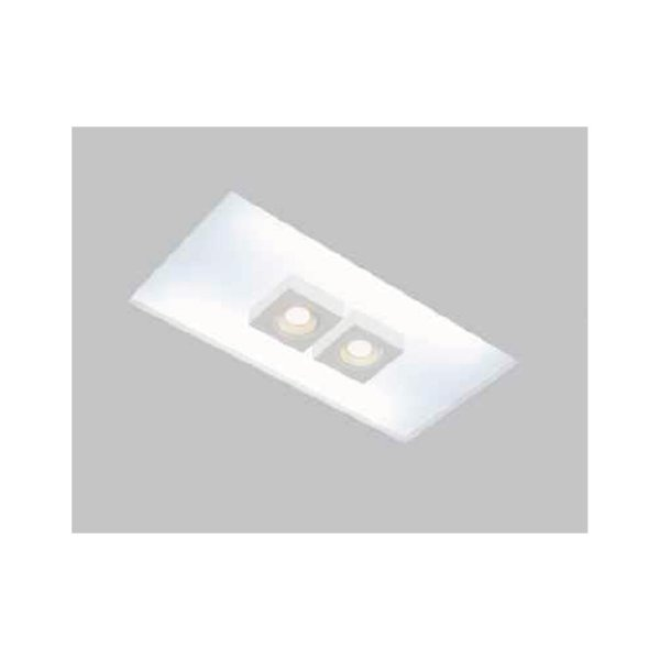 Plafon EMBUTIDO Usina Design NO FRAME BOX 290x650mm Teto Gesso Sanca 30432/65F 4xT8 60CM 2GU10 MR16 300x660x80