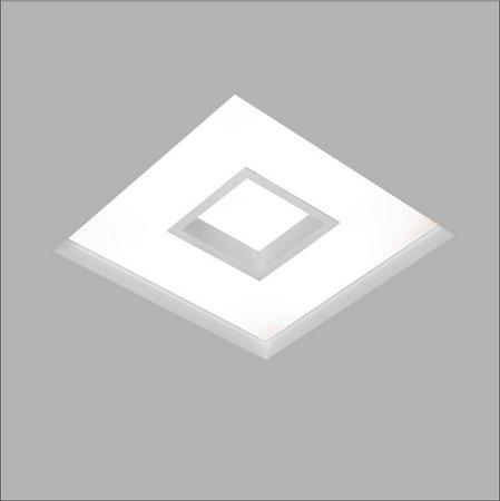 Plafon EMBUTIDO Usina Design NO FRAME CHERRY 290x290x100mm 30500/30 Teto Gesso Sanca 4xE27 300x300x100