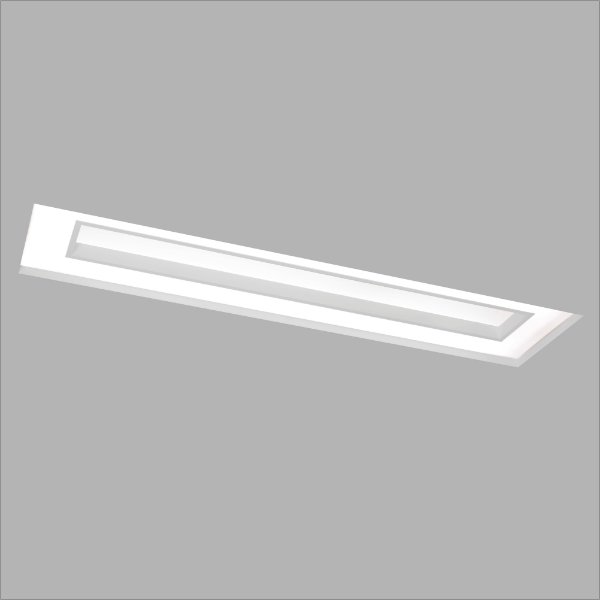 Plafon EMBUTIDO Usina Design NO FRAME CHERRY 290x650x100mm 30515/65 Teto Gesso Sanca 4xT8 60CM 300x660x100