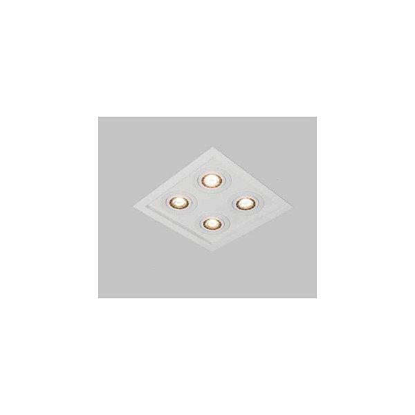 Plafon EMBUTIDO Usina Design PREMIUM 350x350x130 4303/38 Sala Estar Cozinhas Quartos 4 E27 PAR 30 380x380X130