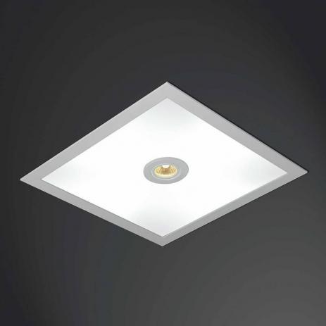 Plafon EMBUTIDO Usina Design QUADRADO RULER 475X475X100 3703/51 Teto Gesso Sancas 4 E27 04 AR 70 500X500X100