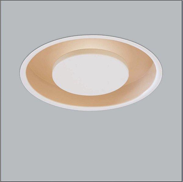 Plafon Usina Design Redondo Embutido Branco Bivolt 110v 220vØ38 Eclipse G9 241/3 Cozinhas Quartos