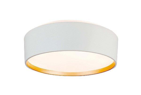 Plafon Newline Iluminação Circle Redondo Sobrepor Metal Acrílico 16,5x53cm 6x E27 23W Bivolt 110v 220v SN10152BTDO Sala Quarto e Cozinha