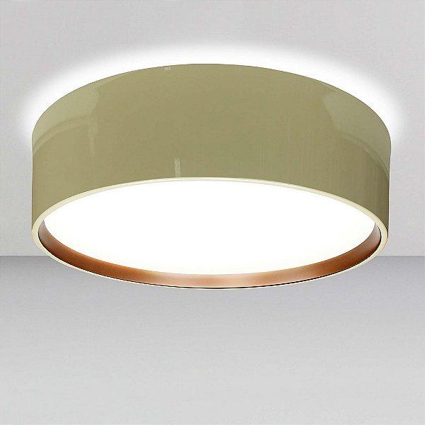 Plafon Newline Iluminação Circle Redondo Sobrepor Metal Acrílico 16,5x53cm 6x E27 23W Bivolt 110v 220v SN10152NDCO Sala Quarto e Cozinha