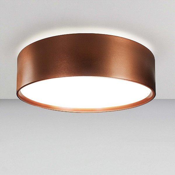 Plafon Newline Iluminação Circle Redondo Sobrepor Metal Acrílico 19x68cm 8x E27 23W Bivolt 110v 220v SN10153CO Sala Quarto e Cozinha