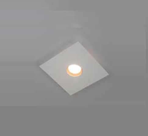 Plafon Newline Iluminação Domino LED Sobrepor Quadrado Alumínio Branco 4,8x25cm PCI LED 6W 2700K 520LEDBTDO Sala Quarto e Cozinha