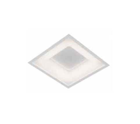 Plafon Newline Iluminação New Massu Embutir Quadrado Acrílico Branco 6,7x28,5cm PCI LED 20W Bivolt 110v 220v 470LED Sala Quarto e Cozinha