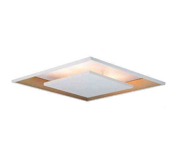 Plafon Newline Iluminação New Picture Embutir Metal Quadrado 7x37cm PCI LED 10W Bivolt 110v 220v 540LEDBTDO Sala Quarto e Cozinha