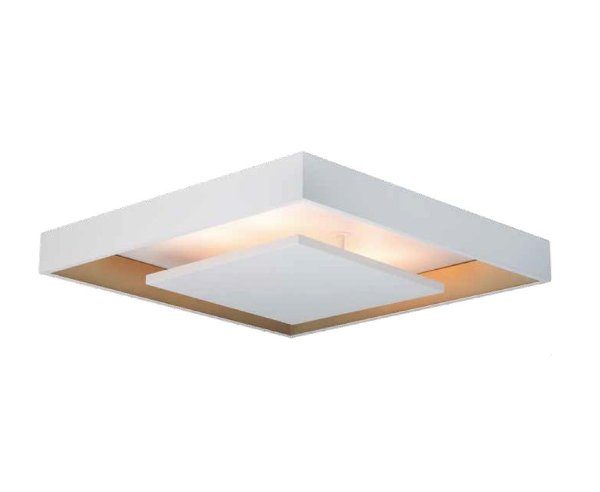 Plafon Newline Iluminação New Picture Sobrepor Metal Quadrado 8,7x47cm PCI LED 20W Bivolt 110v 220v 546LEDBTDO Sala Quarto e Cozinha