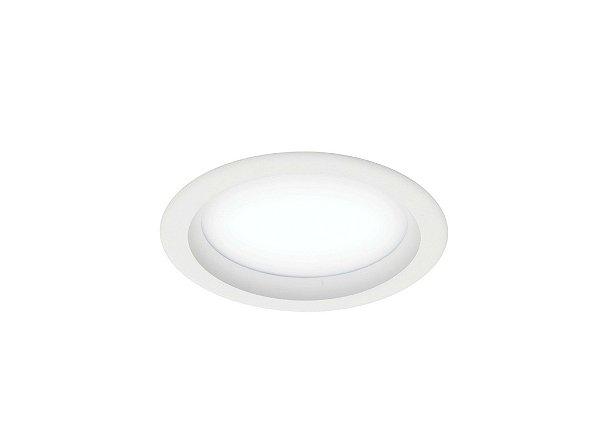 Plafon Newline Iluminação Perfil Embutir Redondo Acrílico Aluminio 27,5x11,5cm 2x E27 20W Bivolt 110v 220v 9041BT Sala Quarto e Cozinha