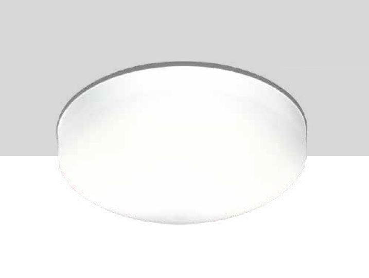 Plafon Newline Iluminação Pillow Sobrepor Vidro Branco Alumínio Redondo 11x25cm 2x E27 25W Bivolt 110v 220v 1690BR Sala Quarto e Cozinha