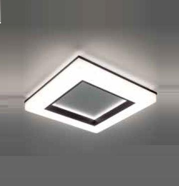 Plafon Newline Iluminação Pixel Quadrado Aberto Metal Acrílico Branco 7x45cm PCI LED 40W 492LEDBT Sala Quarto e Cozinha