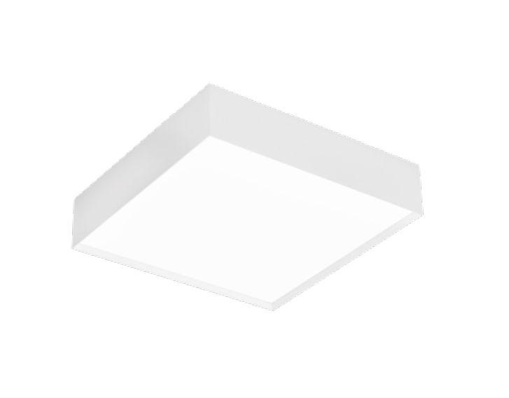 Plafon Newline Iluminação Sobrepor II Acrílico Quadrado Metal 34x10,2cm 2x E27 25W Bivolt 110v 220v IN40081BT Sala Quarto e Cozinha