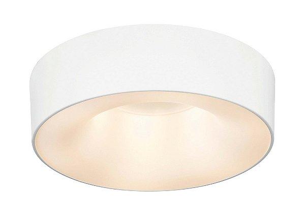 Plafon Newline Iluminação Sushi Redondo Sobrepor Metal Acrílico 16,5x53cm 6x E27 23W Bivolt 110v 220v ST20201BT Sala Quarto e Cozinha