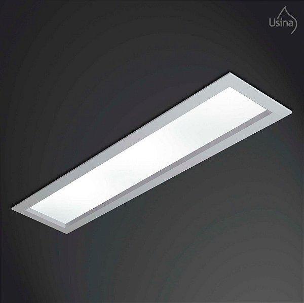 Plafon Usina Design Embutido Retangular Luminária Bivolt 110v 220v11x65 Magnum T8 3610/65 Cozinhas Salas