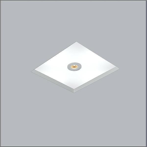 Plafon Usina Design Now Frame Embutido Quadrado  acrílico leitoso 23x23cm 2x E27/ 1 GU10 Bivolt 110v 220v30080-22 Sala Estar Quartos