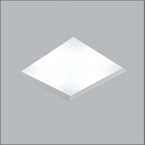 Plafon Usina Design Now Frame Embutido Quadrado  acrílico leitoso Branco 48x48cm 8x E27 Bivolt 110v 220v30100-50 Escadas Quartos