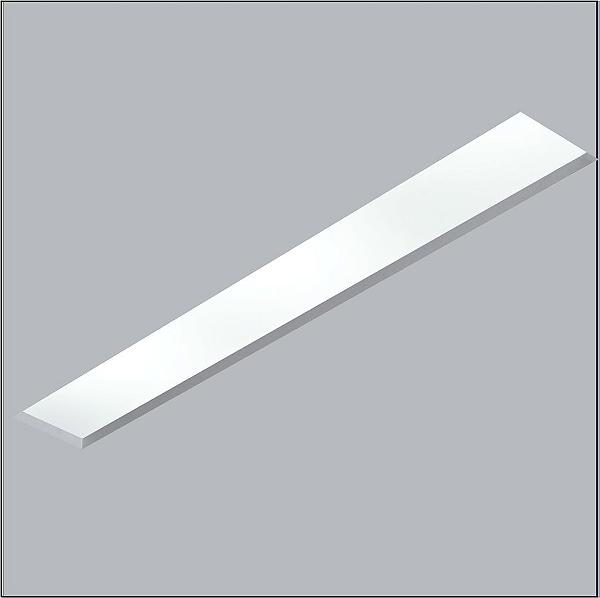 Plafon Usina Design Now Frame Embutido Retangular  acrílico leitoso 12x125cm 2x T8 Tubo Bivolt 110v 220v30111-128F Quartos Salas