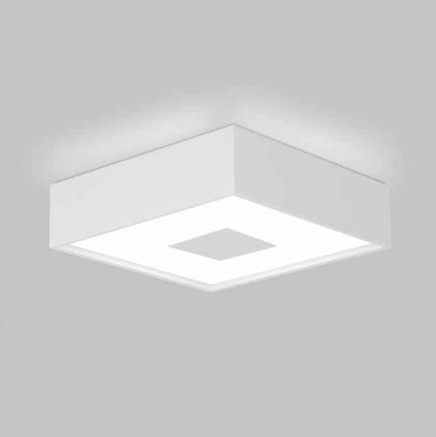 PLAFON Usina Design QUADRADA DONNA 4095/45 Sala Estar Cozinha Quartos4 E27 450x450x120