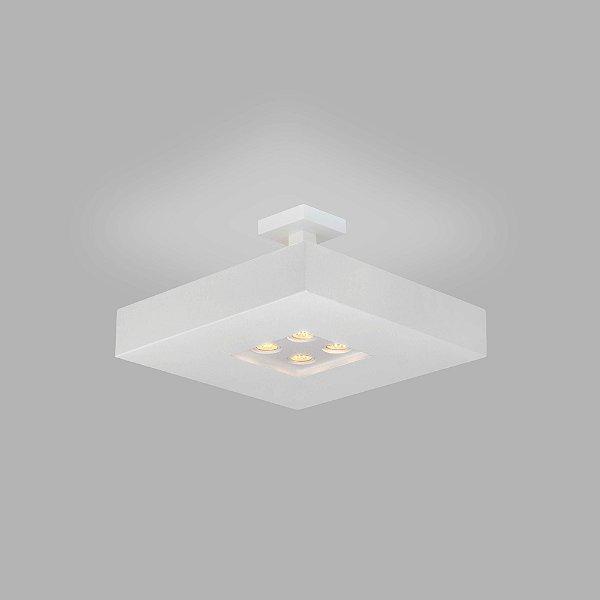 PLAFON Usina Design QUADRADO BORE 4521/60 Sala Estar Cozinhas Quartos 4 E27 04 GU10 MR16 600X600X200