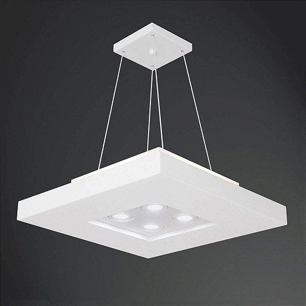 PLAFON Usina Design QUADRADO BORE 4522/40 Sala Estar Cozinhas Quartos 4 E27 01 PAR20 400X400X200