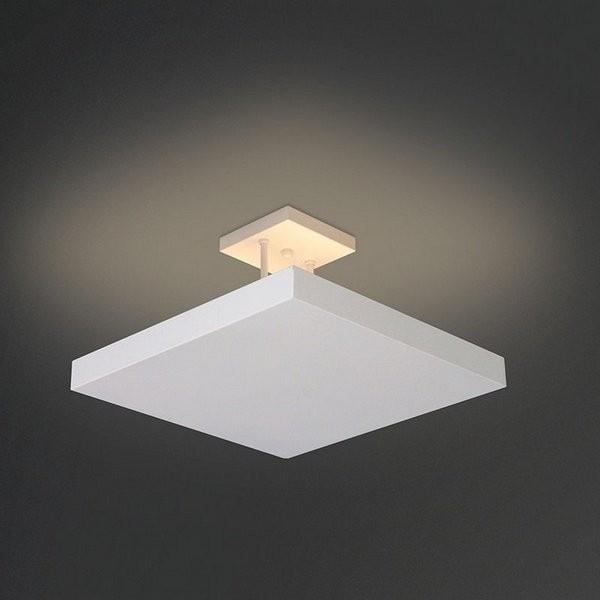 PLAFON Usina Design QUADRADO HOME com HASTE 252/2 Sala Estar Quartos 2G9 300x300x250