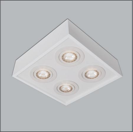 PLAFON Usina Design QUADRADO PREMIUM 4504/35 Sala Estar Cozinhas Quartos 4 AR11 350X350X120