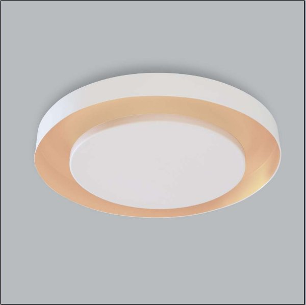 PLAFON Usina Design REDONDO ECLIPSE RETO sem HASTE 248/4 4 Sala Estar Quartos G9 Ø 500X60