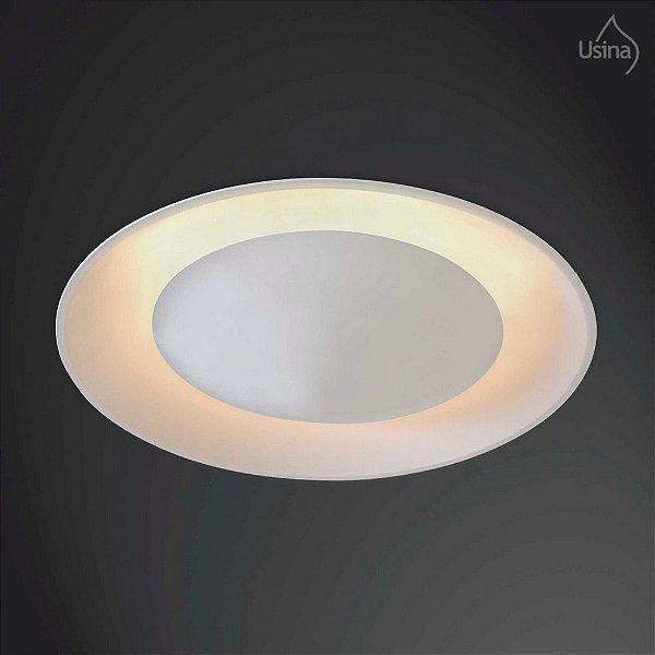 Plafon Usina Design Redondo Embutido  acrílico leitoso Bivolt 110v 220vØ61 Eclipse G9 233/6 Quartos Salas